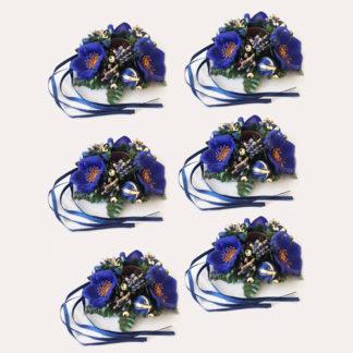 Set 6 Portacandela Segnaposto Blu Cm. 10