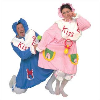 Costume da Bebè azzurro/rosa