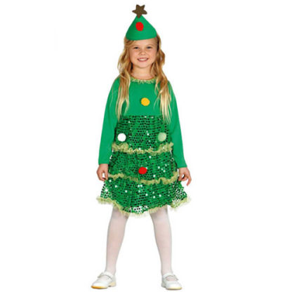 Costume albero di natale bimba 3 - 4 anni