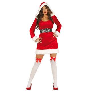 Costume Natale donna con cappuccio tg. 40/42