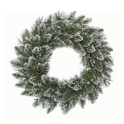 Corona pino ghiacciata Finley cm 50