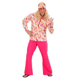 Camicia hippie a fiori uomo