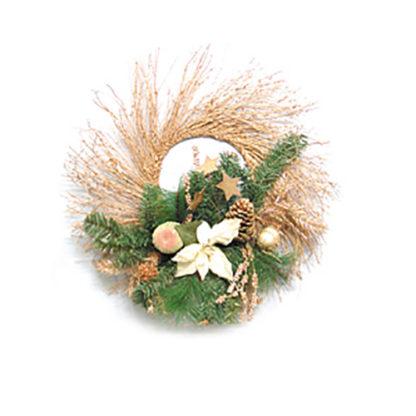 Corona rattan decoro oro cm 60