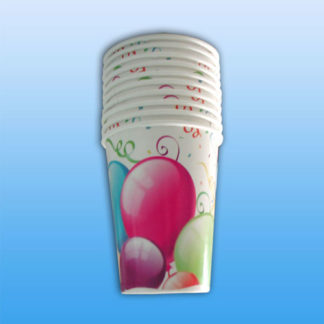 Bicchieri in Carta Balloons 10 pezzi