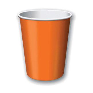 Bicchieri arancioni 24 pezzi