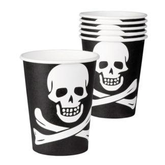 Bicchieri per festa a tema pirata 6 pezzi