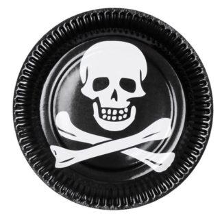 Piatti per festa pirata 6 pezzi