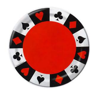 Piatti Poker 8 pezzi
