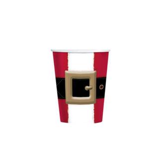 Bicchieri di Babbo Natale 8 pezzi