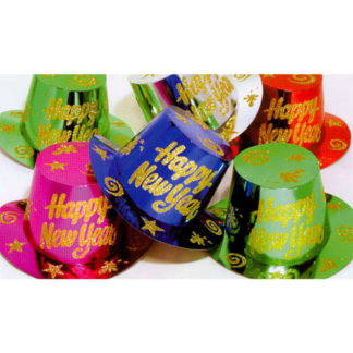 Cappelli cilindro HAPPY NEW YEAR glitter conf. 12 pz.