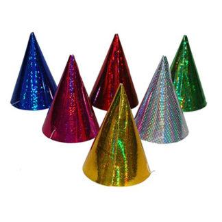Cappellini coni mignon hologram conf. 6 pezzi