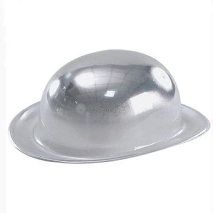 Bombetta metallizzata argento
