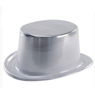 Cilindro metallizzato argento