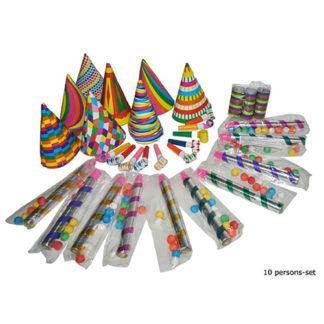 Mini Party Kit multicolor per 10 persone