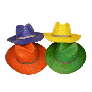 Cappello paglia colorato stile gangster