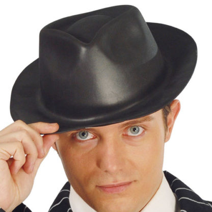 Cappello gangster nero Stile Blues Brothers