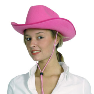 Cappello cow girl rosa lusso