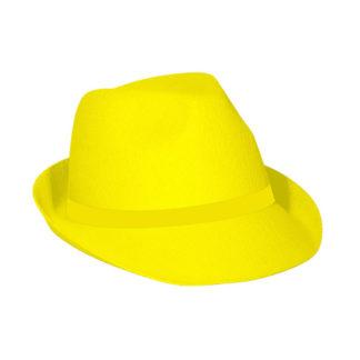 Cappello gangster Giallo Neon