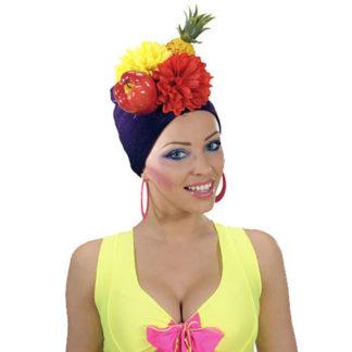 Copricapo Brasil con fiori e frutta
