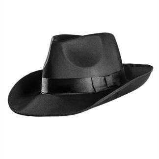 Cappello Gangster raso nero