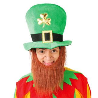 Cilindro San Patrick con barba rossa