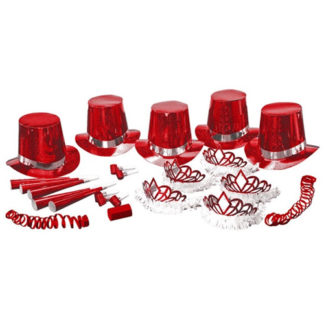 Box 10 persone Party kit hologram ROSSO