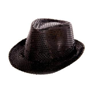 Cappello paillettes nero