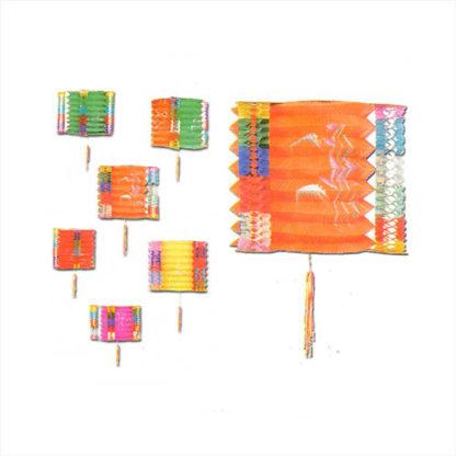 Lanterne cinesi cm 25 set 6 pezzi