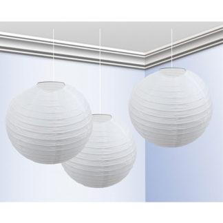Globo lanterna bianca cm 25 conf. 3 pz.