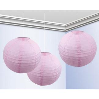 Globo lanterna rosa cm 25 conf. 3 pz.