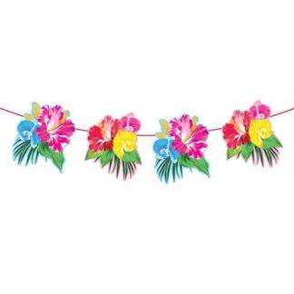 Festone hawaiano fiori tropicali mt 6