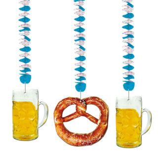 Spirali decorative Oktoberfest mt 1,20 set 3 pz