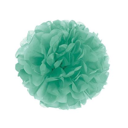 Decoro Pon Pon in carta colore Menta cm 30