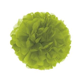Decoro pon pon in carta verde cm 30
