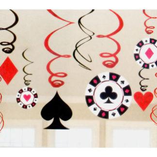 Decoro spirali Poker confezione 12 pezzi