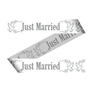 Nastro in PVC Just Married mt 15