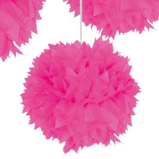 Decoro Pon Pon Neon Rosa cm 30