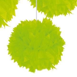 Decoro Pon Pon Neon Verde cm 30