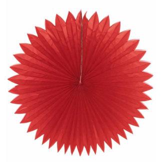Rosone a ventaglio in carta rosso cm 75