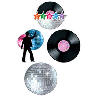 Decorazioni Disco set 4 pezzi