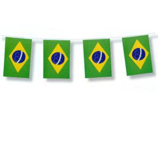Bandierine Brasile in tessuto mt 4