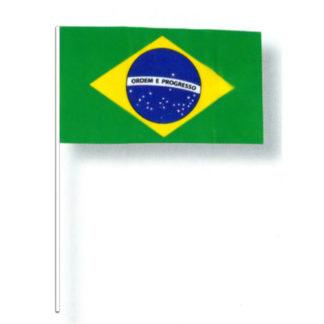 Bandierine Brasile con asta