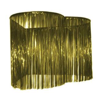 Maxi decoro a cuore oro da soffitto mt 1,5