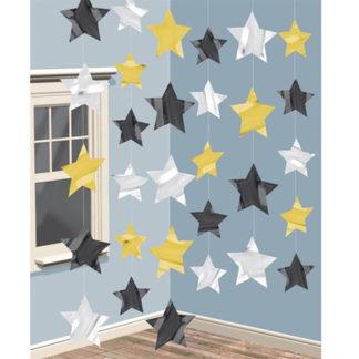 Cascata di stelle mt 2,10 set da 6 pezzi