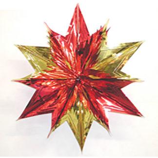 Stella 3D maxi oro/rosso cm 90