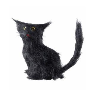 Gatto nero peloso