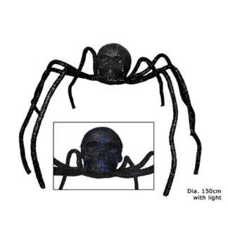 Maxi ragno con testa di Teschio Luminoso cm 150