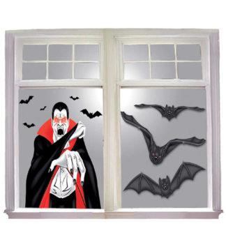 Decoro vampiro con pipistrelli cm 76 set 2 pezzi