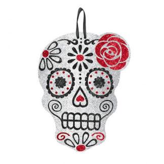 Teschio glitterato Dia de Los Muertos