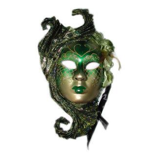 Maschera stile veneziano verde